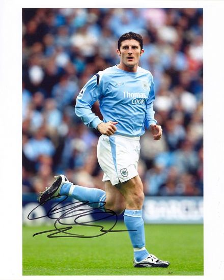 Jonathan Macken, Manchester City, signed 10x8 inch photo.